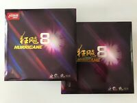 2 X DHS Hurricane 8 Table Tennis Ping Pong Rubber With Sponge For Ping Pong Bat