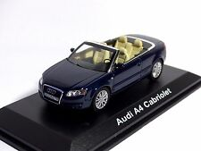Original Audi A4 Cabrio (2005) moroblau Norev 1/43 Neu OVP Audi Dealer