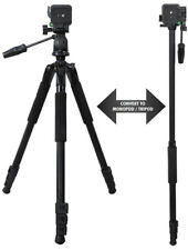 """80"""" Inch 2 in 1 Heavy Duty Camera Tripod for Cameras/Camcorders with Foam Grips"""