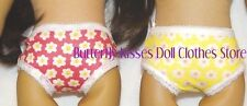 2 PR of Panties Pink Yellow Daisy 18 in Doll Clothes Fits American Girl