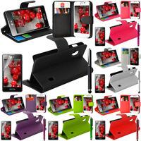 Etui Housse Coque Portefeuille Support Video Rabat Cuir LG Optimus L5 II E460