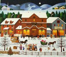 """Charles Wysocki """" Christmas Eve """" # 4507/5000 W/Cert 1999"""
