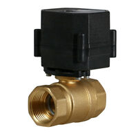 """1"""" 9-24V AC/DC Motorized Electric Ball Valve 9 12 to 24 Volt Slow Close 2 Wire"""
