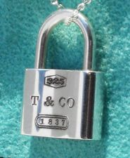 Tiffany & Co 1837 Sterling Silver Padlock Charm ONLY