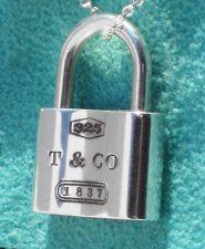 Tiffany & Co Sterling Silver 1837 Padlock Charm