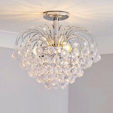 More details for glass droplet semi-flush ceiling light chandelier