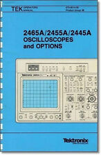 Tektronix 2465A/2455A/2445A Operators Manual: Comb Bound & Protective Covers