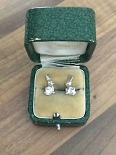 Beautiful Delicate Pair of Marked Sterling Silver Rabbit Stud Earrings