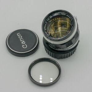Canon 50mm F/1.4 1:1,4 Standard Objektiv für Leica M39 Anschluss
