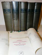 Emile Zola: Les Rougon-Macquart 5 volumi con ex libris, La Pleiade in francese