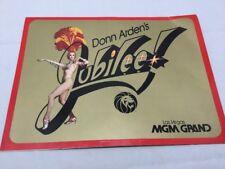 "DONN ARDEN'S ""JUBILEE"" MGM GRAND LAS VEGAS VINTAGE SOUVENIR PROGRAM - 1981"