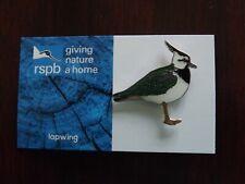 RSPB GNaH lapwing Metal Pin Badge on Blue FR Card