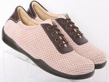 Birkenstock Footprints Pink Perforated Lace-Up Sneakers Women's Euro 38N US 7.5N