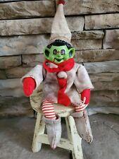 VTG Wicked Goblin Elf on Shelf OOAK creepy horror Halloween doll Santa Prop deco