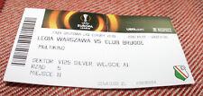 ticket for collectors EL Legia Warszawa Club Brugge 2015 Poland Belgium BARCODE