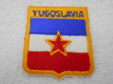 YUGOSLAVIA COUNTRY FLAG NEW NAME PATCH TAG
