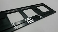 2X FIAT EUROPEAN LICENSE NUMBER PLATE SURROUND FRAME HOLDER.