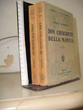 MICHELE CERVANTES - DON CHISCIOTTE DELLA MANCIA. 2 VOLUMI - SONZOGNO INIZIO 1900