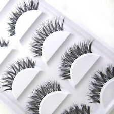 5 Pairs Hot Sale Fashion  Cross Beauty False Eyelashes Extension Makeup Black
