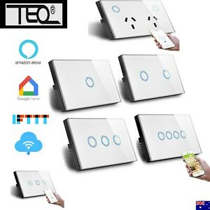 Tuya Zigbee WiFi  Smart Switch Home Touch Light Wall Panel Alexa Google