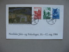 NORWAY, eventcover 1984, Hunting and fishing days,  canc. knive