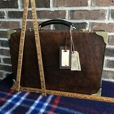 VINTAGE 1970's ABERCROMBIE & FITCH BELTING LEATHER MACBOOK BRIEFCASE BAG R$2898