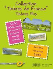2ième Trimestre 2008 Pochette Collection timbres France Plus Cote 90€