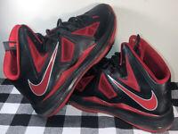 Nike Lebron X 10 Black/University Red Heat Away SZ 9.5 BRED Vintage Rare