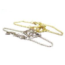 UK* Ladies Beautiful Gold pltd handcuff twin knot Bracelet Bangle Jewellery 1154