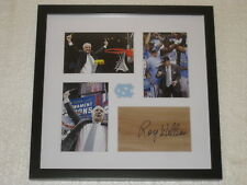 Roy Williams Signed Floorpiece Framed North Carolina Basketball COA Autograph