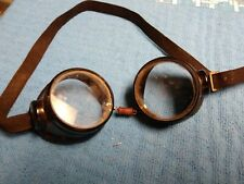 Authentic Vintage Willson Steampunk Goggles motorcycle glasses costume