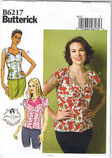 Vtg 50s Retro Inspired Button Up Blouse Top Gertie Sewing Pattern 12 14 16 18 20