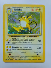 New listing Raichu - 14/102 Base Set Pokemon - Holo Rare
