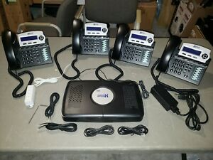Xblue Networks X16 Office Phone System with 4 Phones and Server