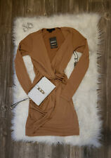 NWT's Women's Forever 21 XS Sexy Long Sleeved V-Neck Brown Dress