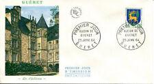 FRANCE FDC - 491 1351B 1 ARMOIRIES DE GUERET 25 1 1964