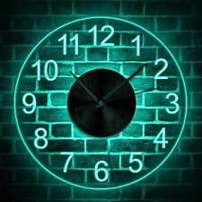 Digital LED Hollow 3D Illuminated Wall Clock Nightlight Modern Home Decorations