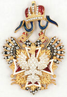 ORDER OF THE WHITE EAGLE CROSS WITH SWAROVSKY CRYSTALS