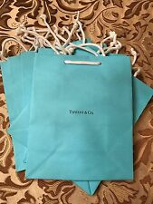 Authentic *New - Never Used* Tiffany & Co. Turquoise Paper Gift Bag (8 X 9 3/4)