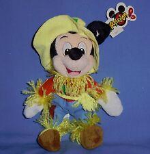 DISNEY PLUSH MICKEY MOUSE SCARECROW bean bag toy-Wizard of Oz;costume;NWT