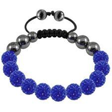 Tresor Paris Bracelet, Blue 10mm Crystal Beads With Magnetite, Rrp£149