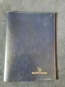 Bertone X1/9 Blue Plastic Owner's Manual Warranty Book Cover Rare Used
