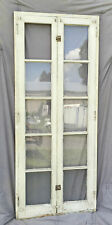 Antique Double 5 Lite Casement Window Sashes Complete Frame Old Shabby 1320-16
