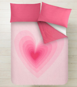 AGATHA RUIZ DE LA PRADA Double Duvet with a Long Pillowcase Pink Heart NEW