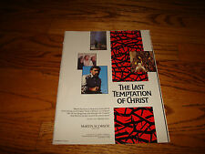LAST TEMPTATION OF CHRIST 1988 Oscar ad Martin Scorsese & THE LAND BEFORE TIME