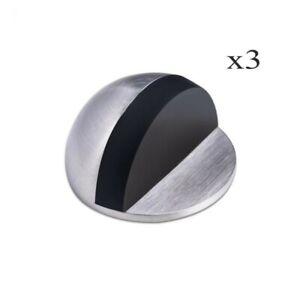 3 Sets Oval Door Stopper Self Adhesive  Anti Collision Zinc Alloy Door Stops