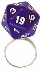 Adjustable d20 Dice Ring - Purple Metallic Dice Games GAMING SUPPLY BRAND NEW
