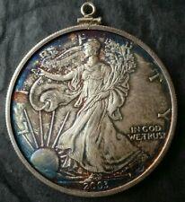 2003 $1 American Silver Eagle Dollar in a Sterling Bezel