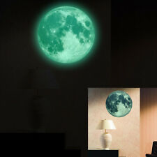 30cm Luminous Moon Glow in the Dark Wall Stickers Moonlight Decor Waterproof