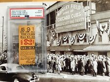 1929 Chicago Cubs New York Ticket Rogers Hornsby MVP Season HR #276 PSA